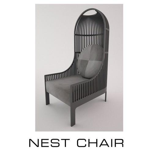 Fantastic 3D Model Nest Chair Onthecornerstone Fun Painted Chair Ideas Images Onthecornerstoneorg
