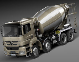 Mercedes-Benz Axor 3240B Concrete Mixer 2015 3D Model