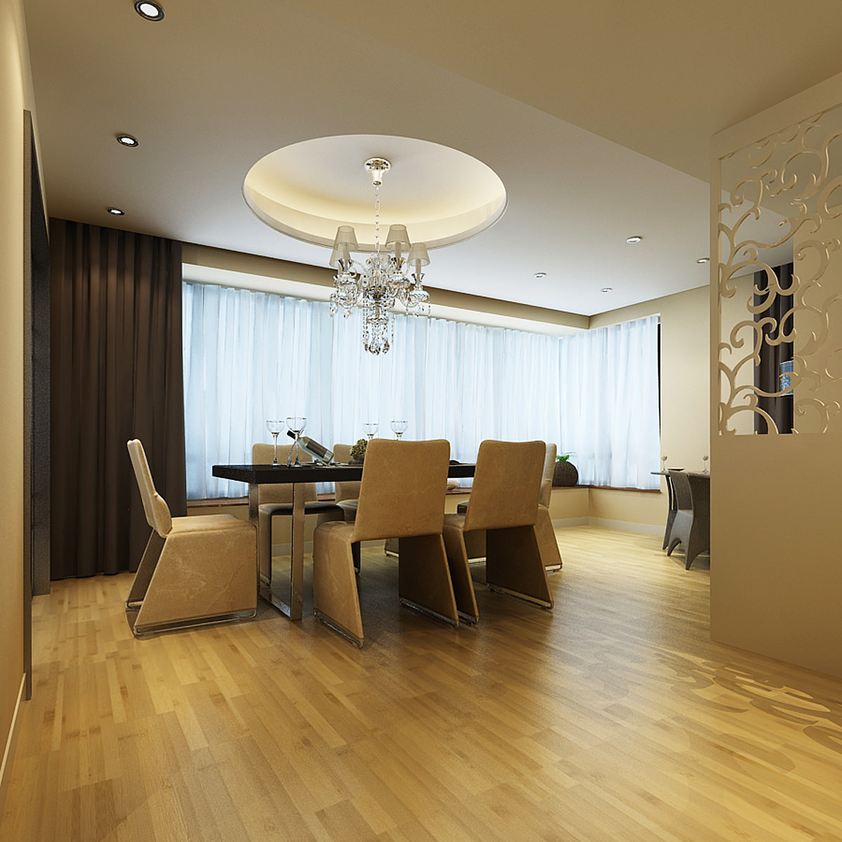 Photoreal luxurious flat interior 3d model max for Flat interior