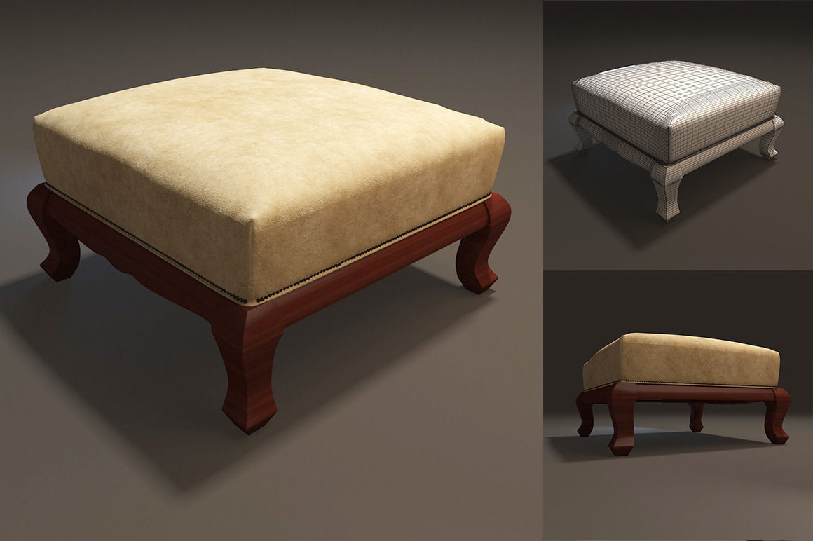 Footrest furniture 3d model max for Model furniture