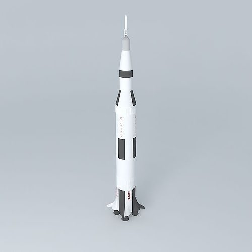 Saturn V Rocket 3D model | CGTrader