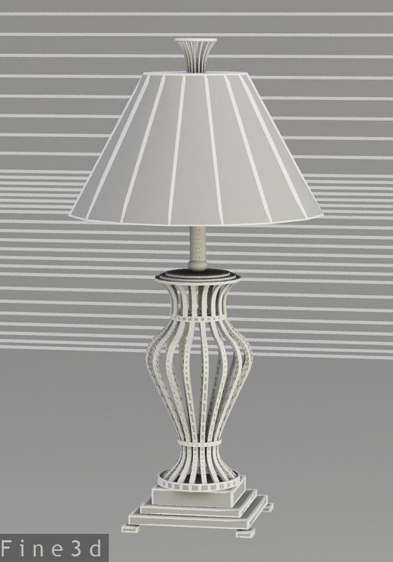 Dark metal table lamp 3d model max obj 3ds cgtradercom for Table lamp 3ds max tutorial