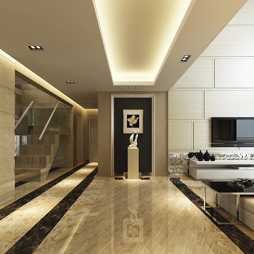 Luxurious High Ceiling House Interior Photoreal 3d Model Max