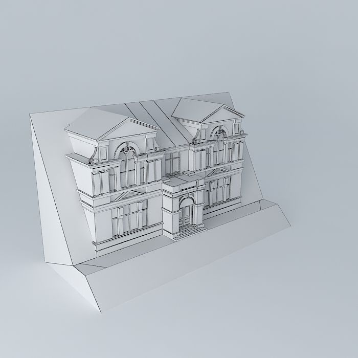 Passmore edwards institute front elevati free 3d for 3d sketch online