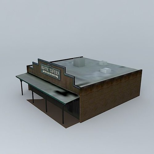 victorville rustic tavern wild west style 3d model low-poly max obj 3ds fbx stl dae 1