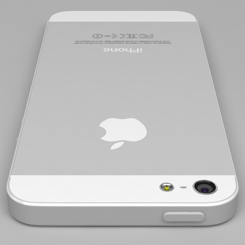 iphone 5 white silver 3D Models
