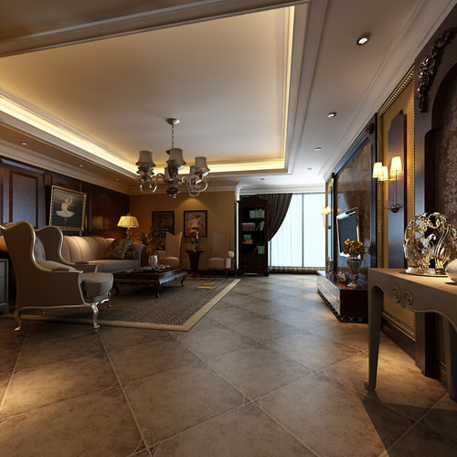 Luxurious american style house interior ph 3d model for American style house interior