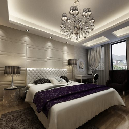 Home Design Ideas Free Download: 3D Comfortable Luxurious Bedroom Photoreal