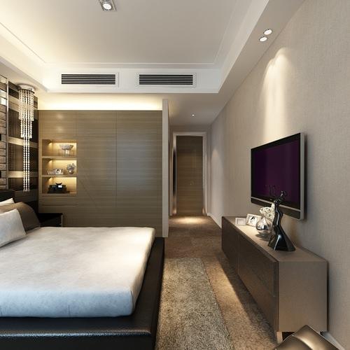 Modern bedroom photoreal interior 3d cgtrader for Model bedroom interior design