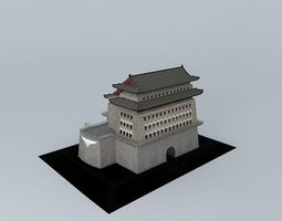Beijing Zhengyang watchtower 3D Model