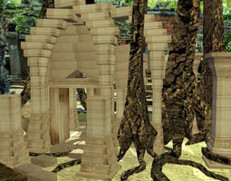 Super low poly Sony Forrest Temple Set AAA 3D model