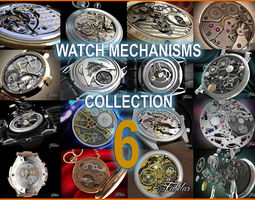 Watch mechanisms coll 6 3D Model