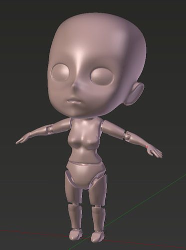 base manga character for 3d printing 3d model stl 1