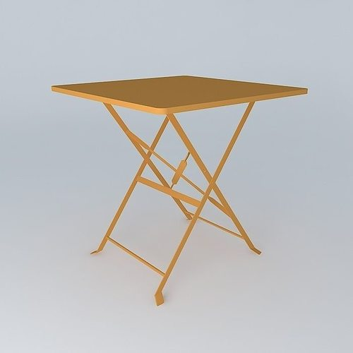 Orange guinguette table houses the world ref 17222 3d - Deco table guinguette ...