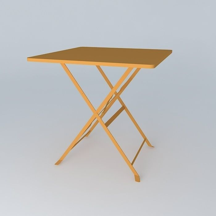 Orange guinguette table houses the world 3d model max - Deco table guinguette ...