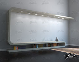 TV cabinet 03 3D Model