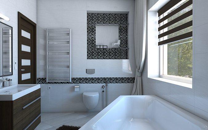 bathroom with angular bath 3d model max obj mtl 3ds fbx skp 1