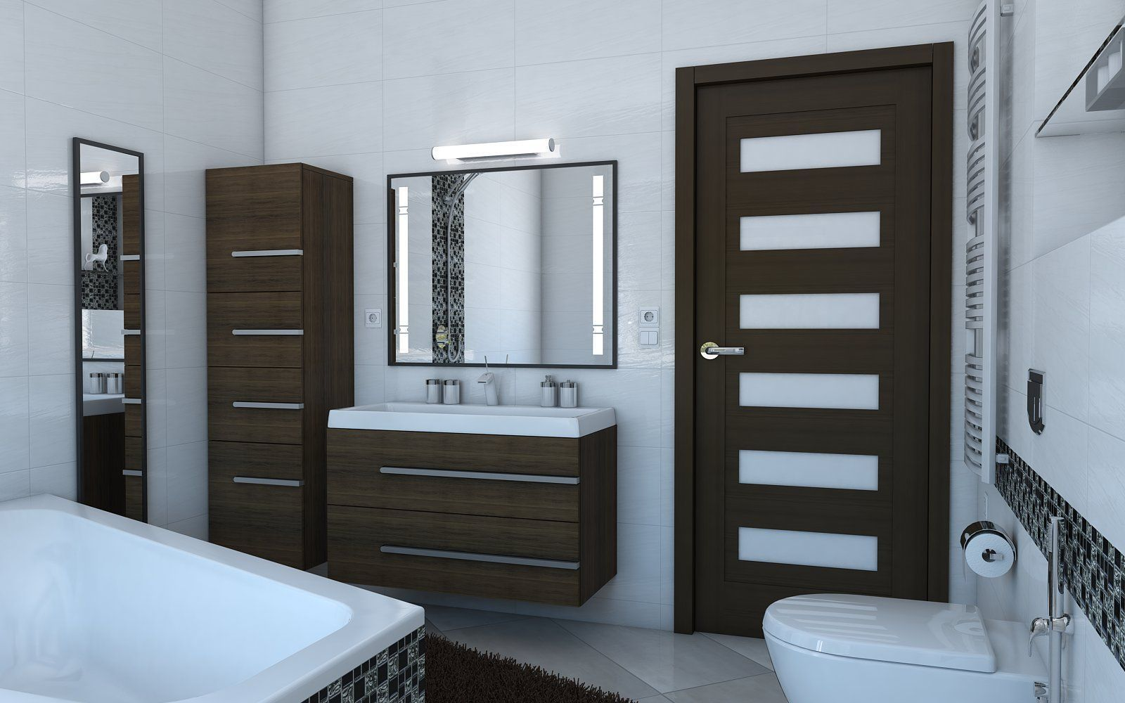 Model bathroom pictures -  Bathroom With Angular Bath 3d Model Max Obj 3ds Fbx Skp 3