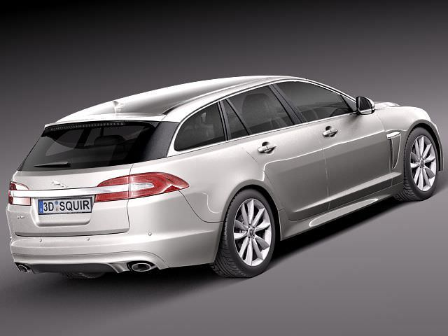 jaguar xf sportbrake 2013 3d model max obj 3ds fbx. Black Bedroom Furniture Sets. Home Design Ideas