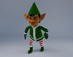 Elf 3d blender rigged 3D Model