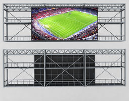 baseball 3D model Scoreboard stadium tv led screen