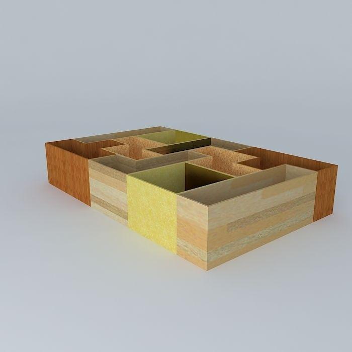 Tetris bookshelf 3d model max obj 3ds fbx stl dae for Tetris bookshelf