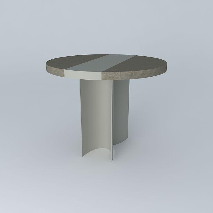 Luma Small Round Silo Dining Table 3d Model Max Obj 3ds