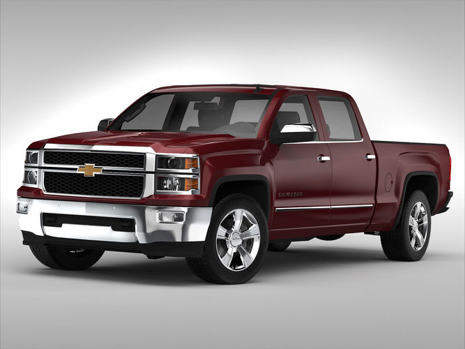 Chevy Suv Models >> Chevrolet Silverado 2014 3D | CGTrader