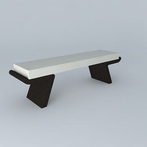christian liaigre bench quiet flat bench 3d model max obj mtl 3ds fbx stl dae 1
