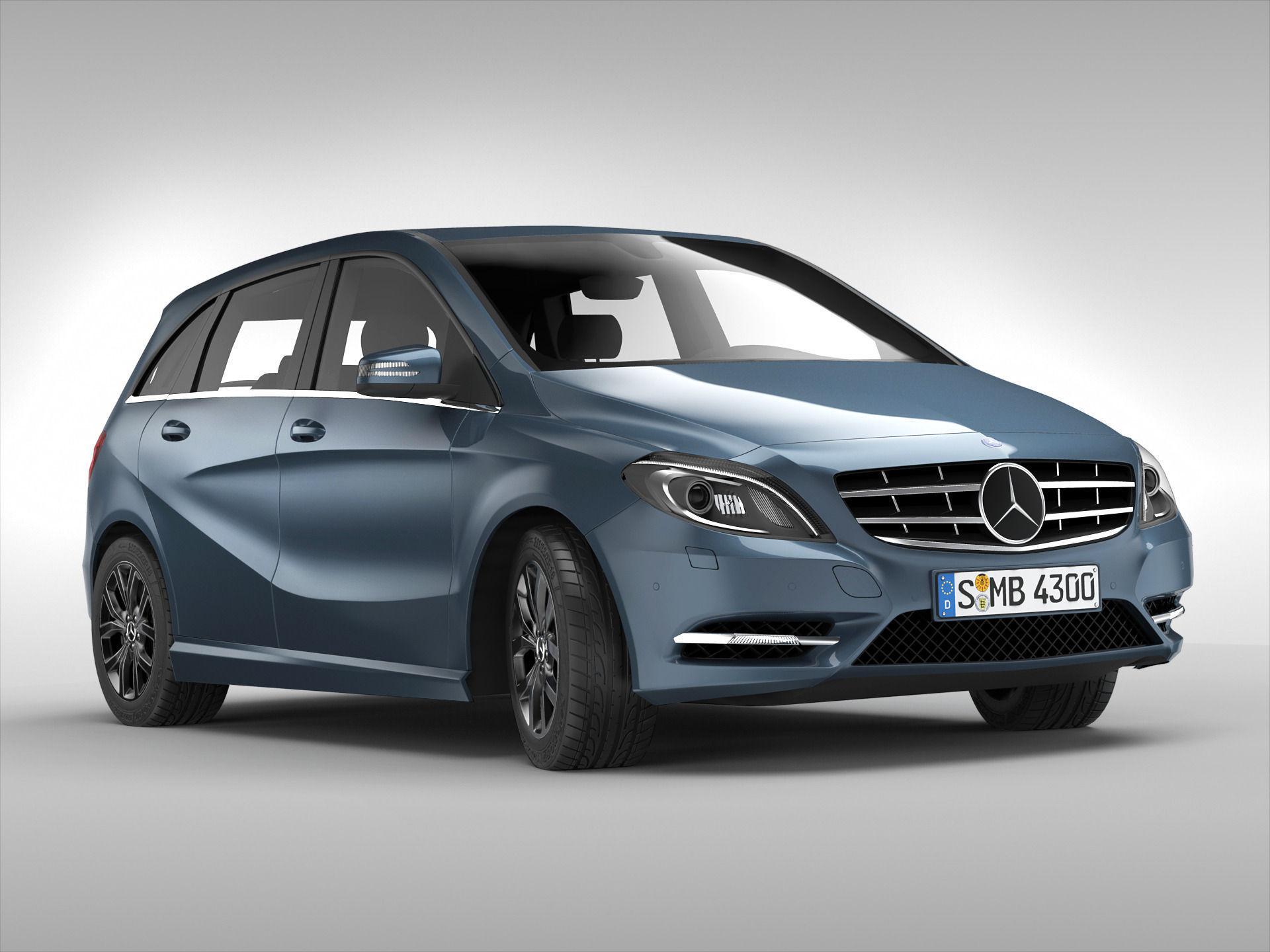 Mercedes benz b class 2012 3d model max obj 3ds fbx for Mercedes benz 2012 models