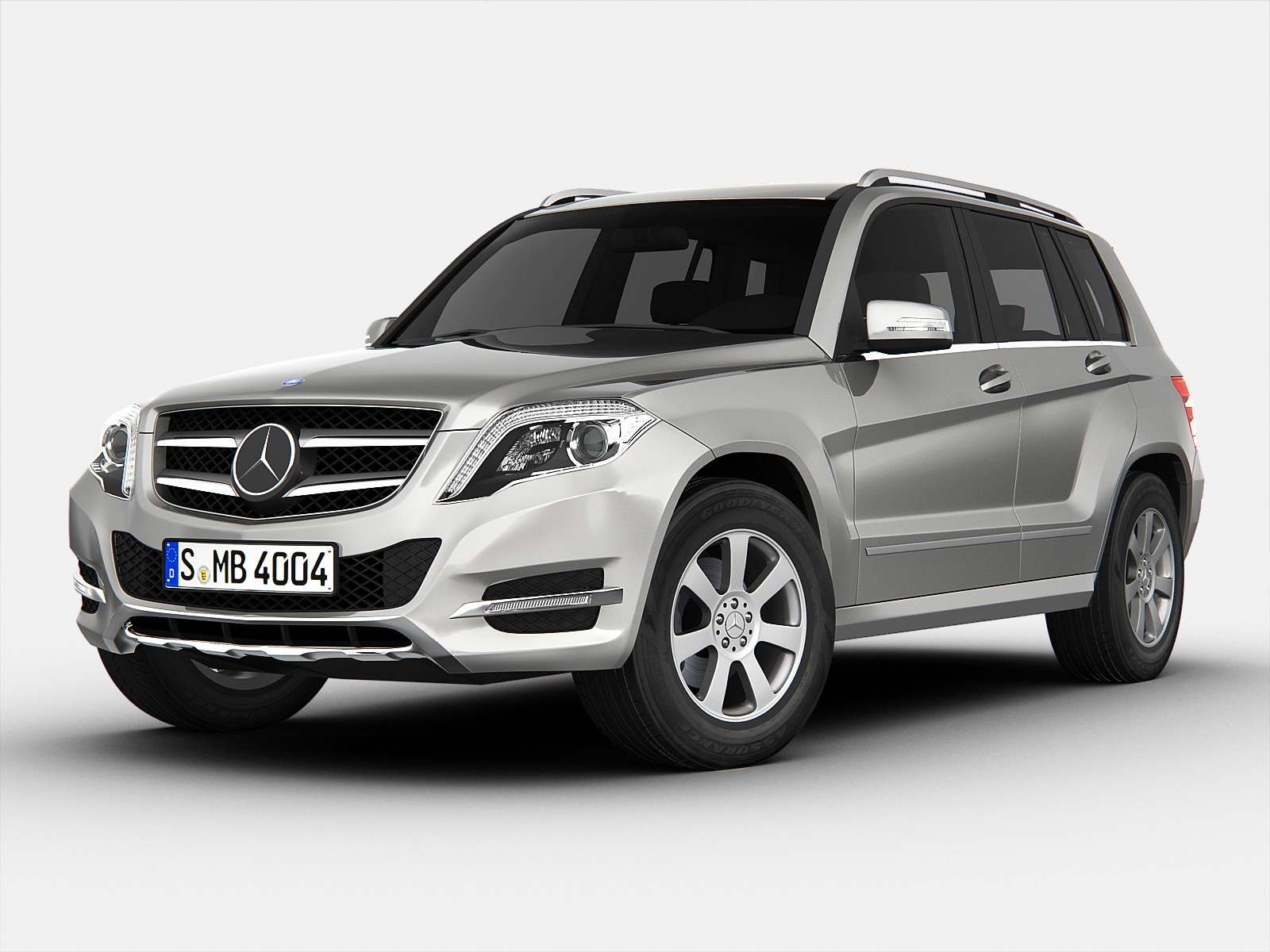 Mercedes Benz GLK Class 2013 3D Model MAX OBJ 3DS FBX ...