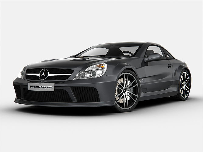 mercedes benz sl65 amg black series 3d model max obj 3ds 1