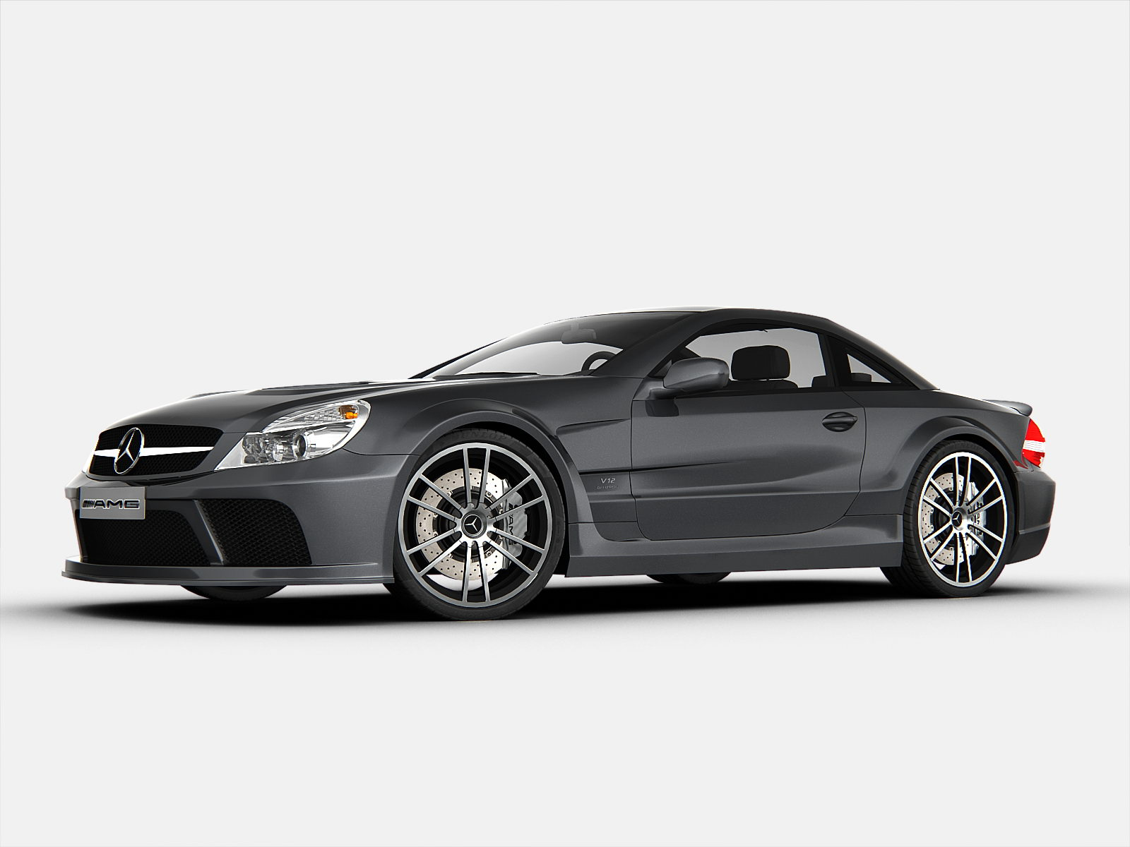 Mercedes benz sl65 amg black series 3d models for Mercedes benz e series amg