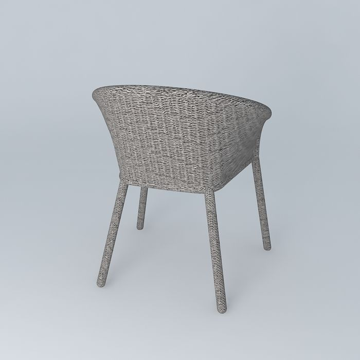 Janus et cie strada arm dining chair 3d model max obj for Janus et cie