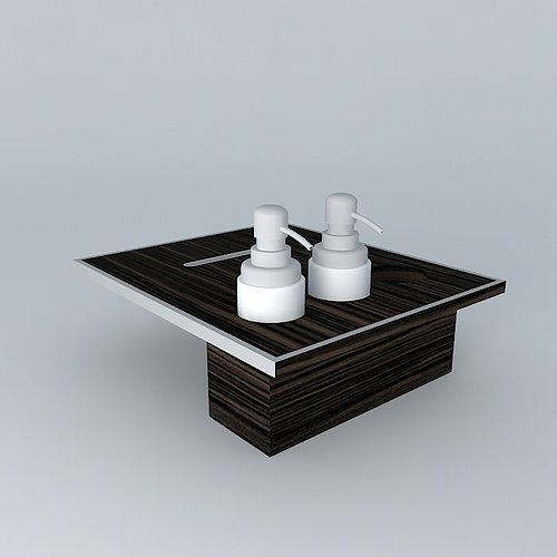 Built in bath accessories 3d model max obj 3ds fbx stl dae for 3d bathroom accessories