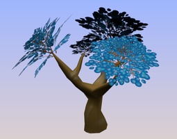 Tree and Lear Blue 3D
