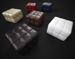 3d model padded stools