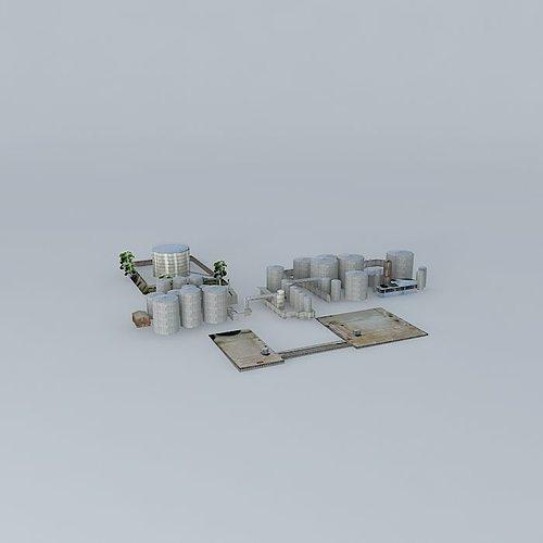 eagle farm fuel tanks terminal 3d model max obj mtl 3ds fbx stl dae 1