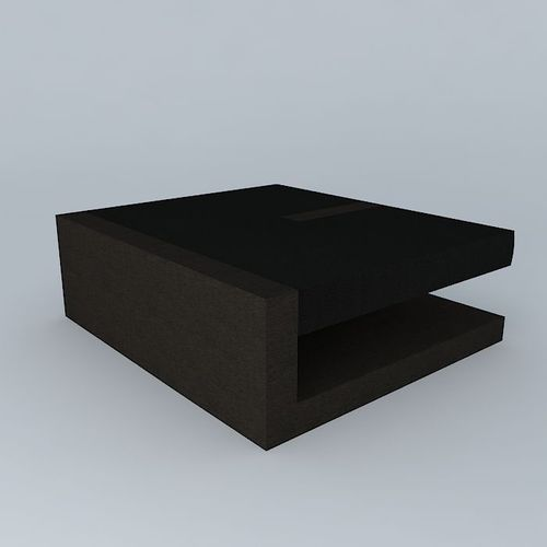 Leather And Wood C Puzzle Coffee Table 3d Model Max Obj 3ds Fbx Stl Dae