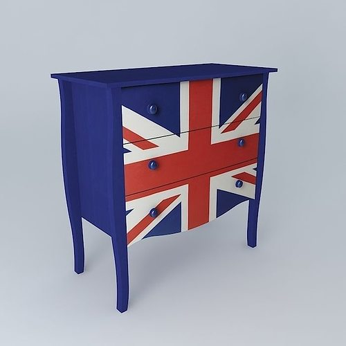 Uk flag convenient child britain maisons du monde 3d model