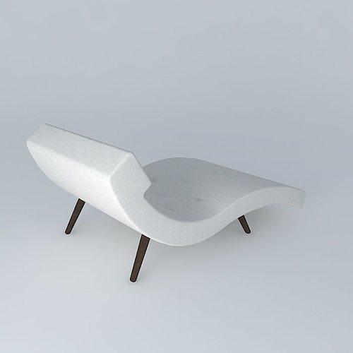 Roark Linen Wave Chaise Lounge Model Max Obj Mtl S Fbx Stl Dae 1