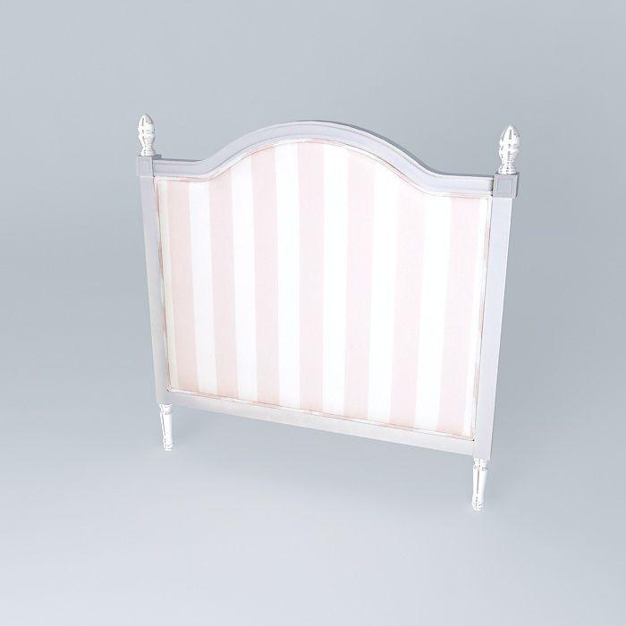Headboard child 140cm pink striped paris f 3d model max - Maisons du monde paris ...