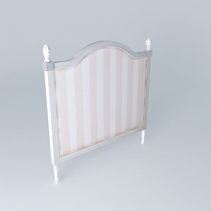 Headboard child 140cm pink striped paris f 3d model max obj 3ds fbx stl da - Maisons du monde paris 13 ...