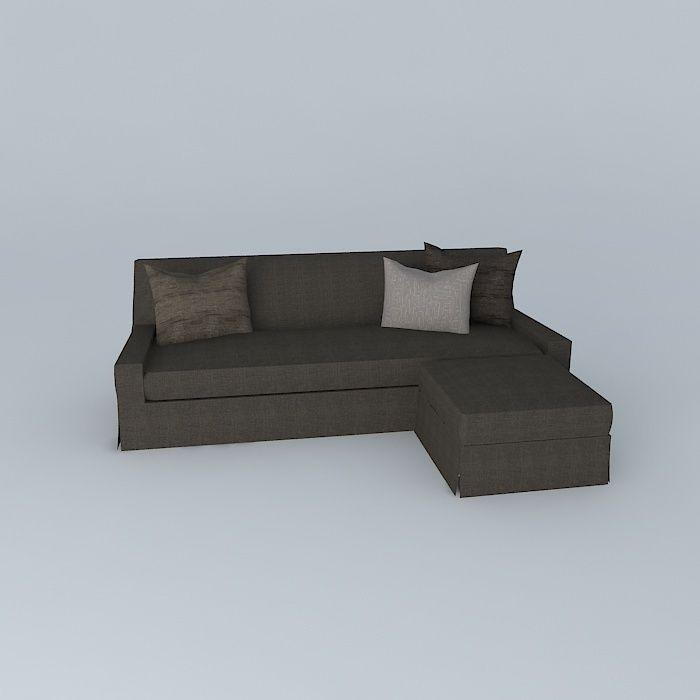 ... Skirt Sofa 3d Model Max Obj Mtl 3ds Fbx Stl Dae 3 ...