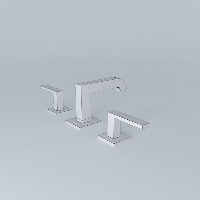 Faucet 3d model max obj 3ds fbx stl dae for Sketchup bathroom sink