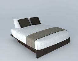 3D Slick Benson King bed