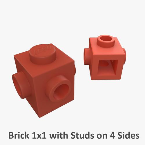 Lego Bricks 1x1 3D Model .max .obj .fbx .c4d .ma .mb .hrc ...