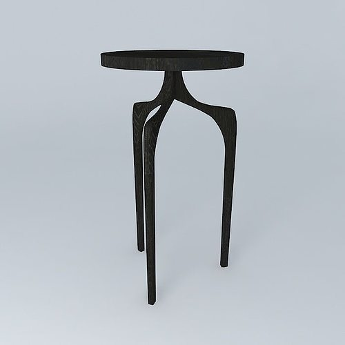 3d Tall Skinny Side Table Cgtrader