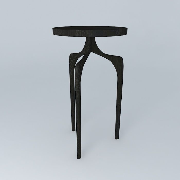 Attirant Tall Skinny Side Table 3d Model Max Obj 3ds Fbx Stl Dae 1 ...