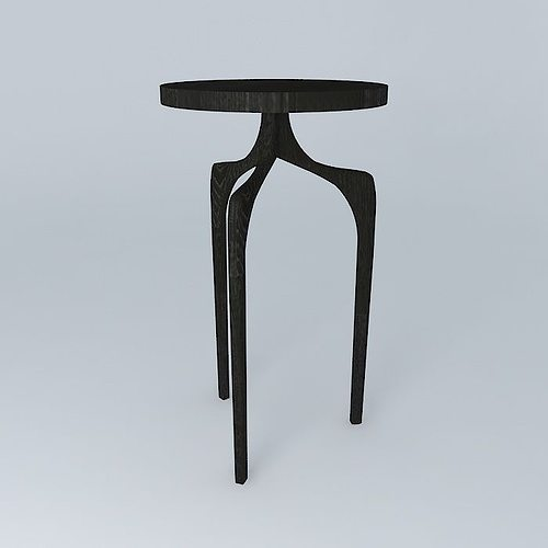 ... Tall Skinny Side Table 3d Model Max Obj 3ds Fbx Stl Dae 2 ...